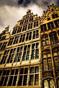 בנייה טיפוסית בבלגיה