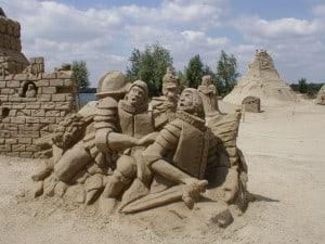 פיסול בחול ים בבלגיה